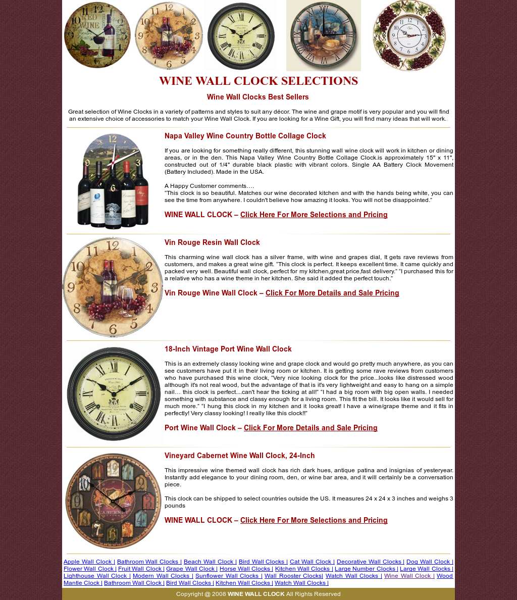 Wine Wall Clock Competitors Revenue And Employees Owler Company