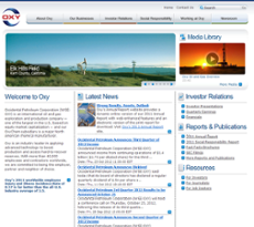 Occidental Petroleum website history
