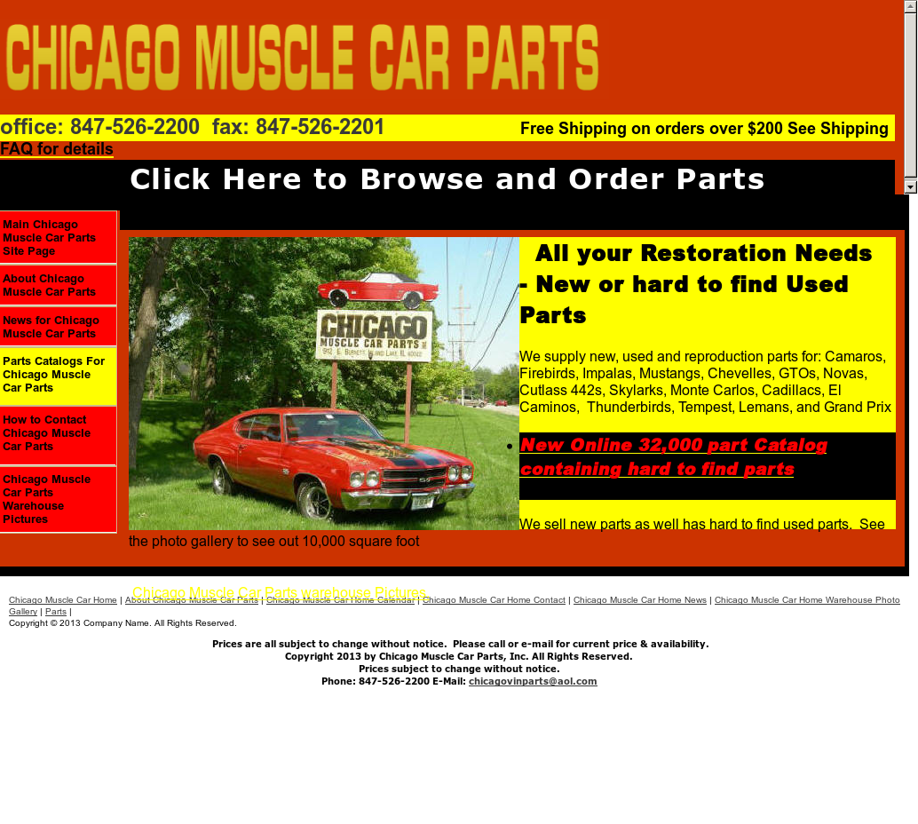Chicago Muscle Car Parts Competitors, Revenue and Employees - Owler ...