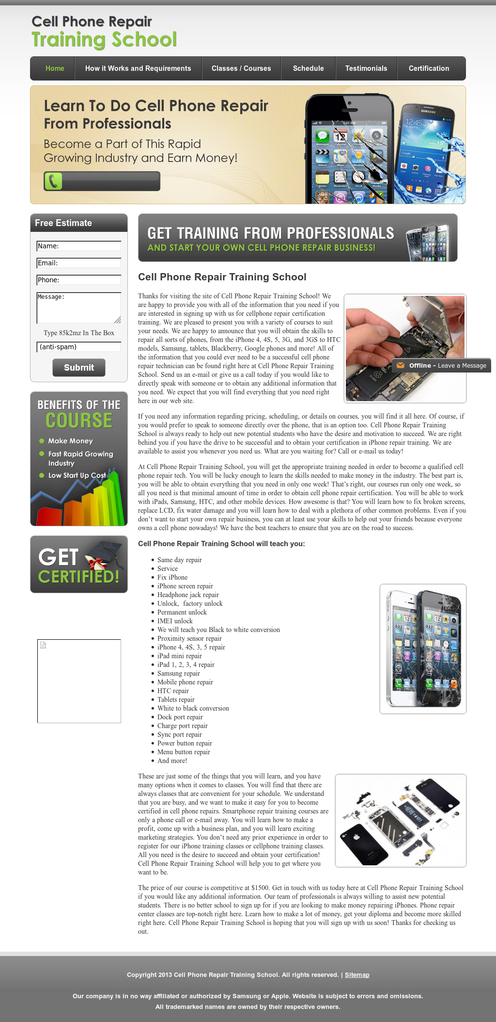 Cell Phone Repair Training School Competitors Revenue And Employees