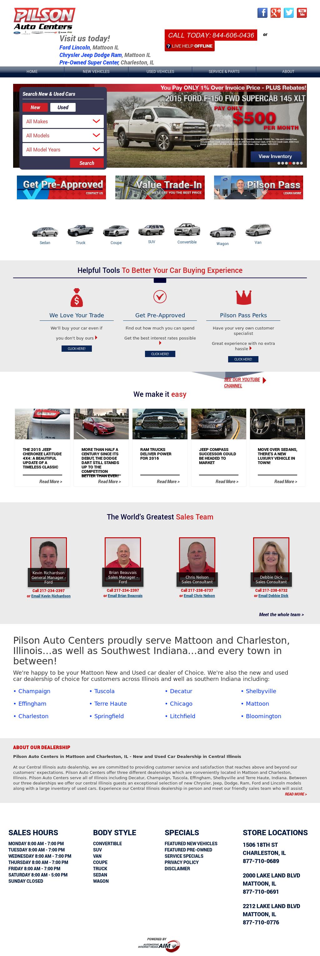 Pilson Auto Center Mattoon >> Pilson Auto Center Mattoon   News of New Car Release