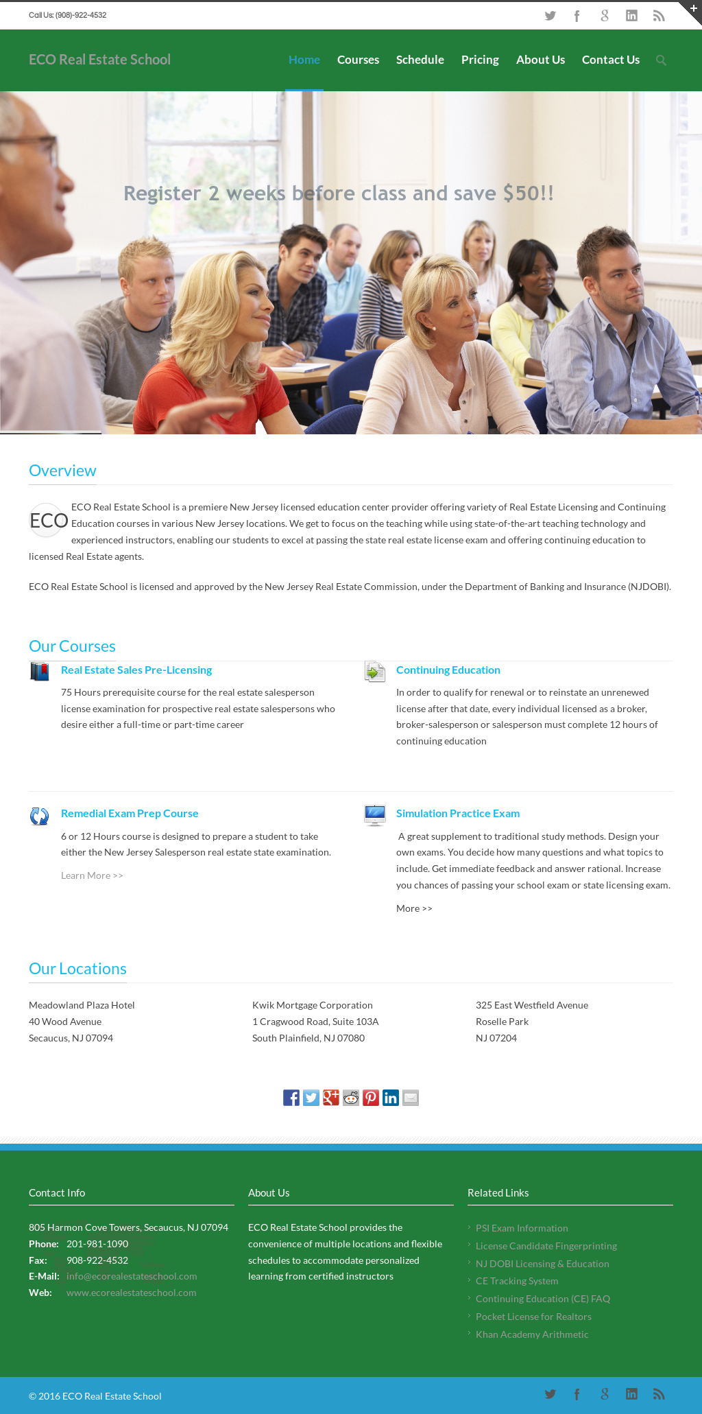 Eco Real Estate School Competitors, Revenue and Employees