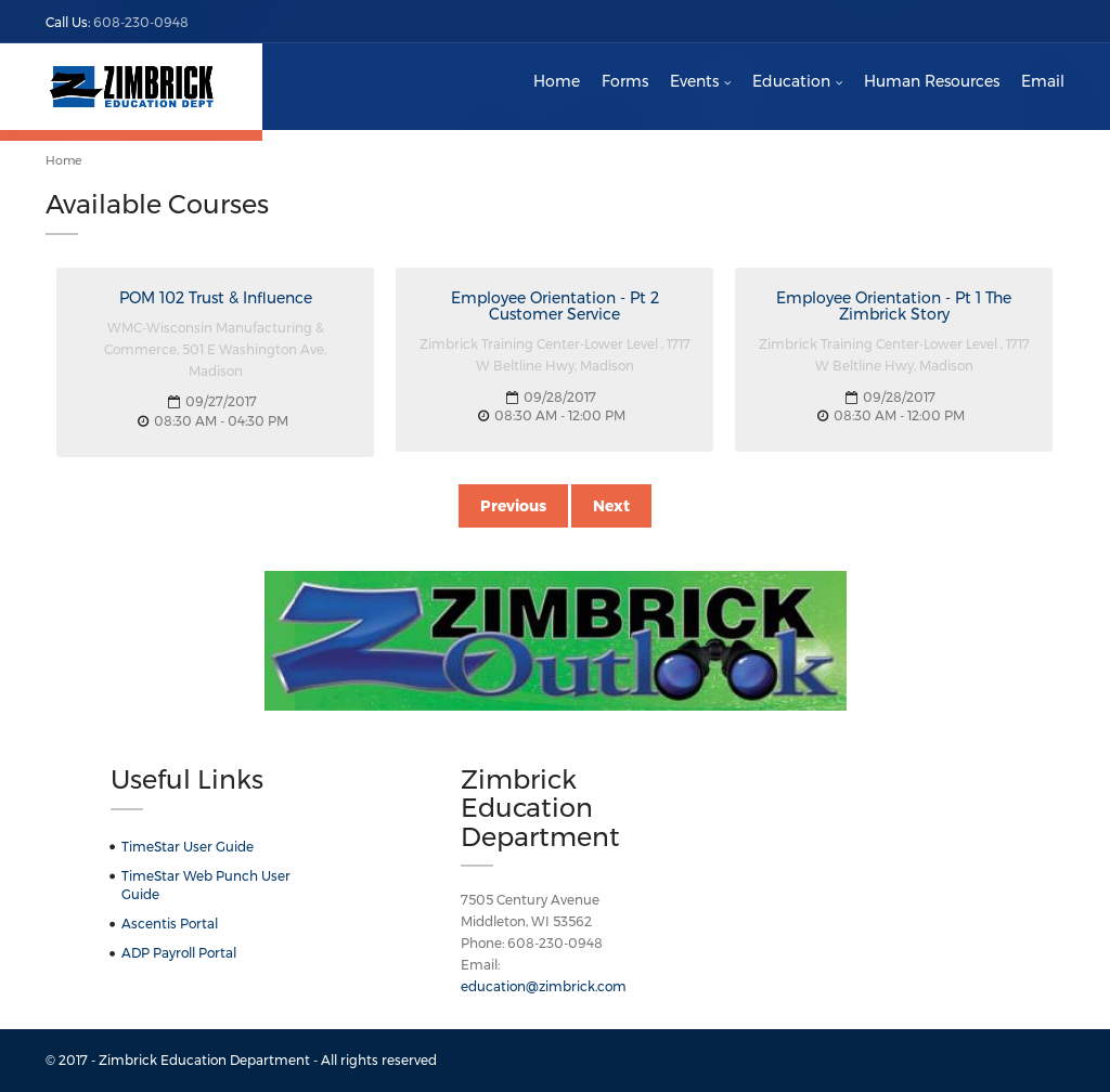 Zimbrick Education Dept Competitors, Revenue and Employees