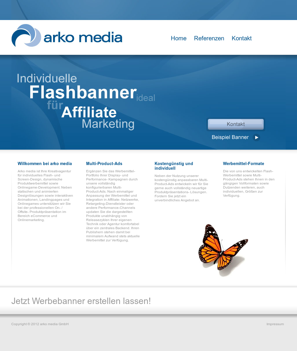 arko media website history - Produktprasentation Beispiel