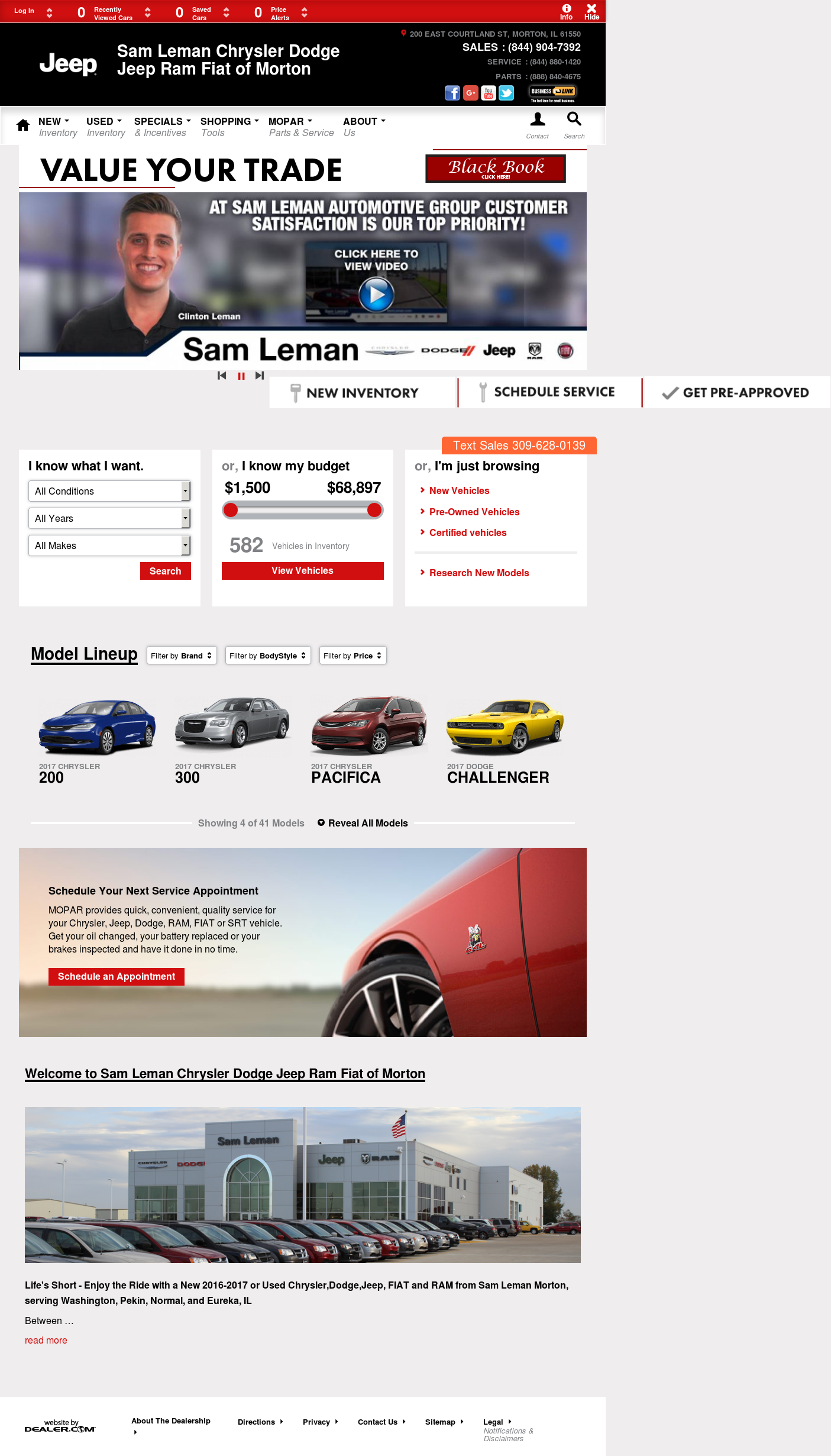 Sam Leman Chrysler Dodge Jeep petitors Revenue and Employees