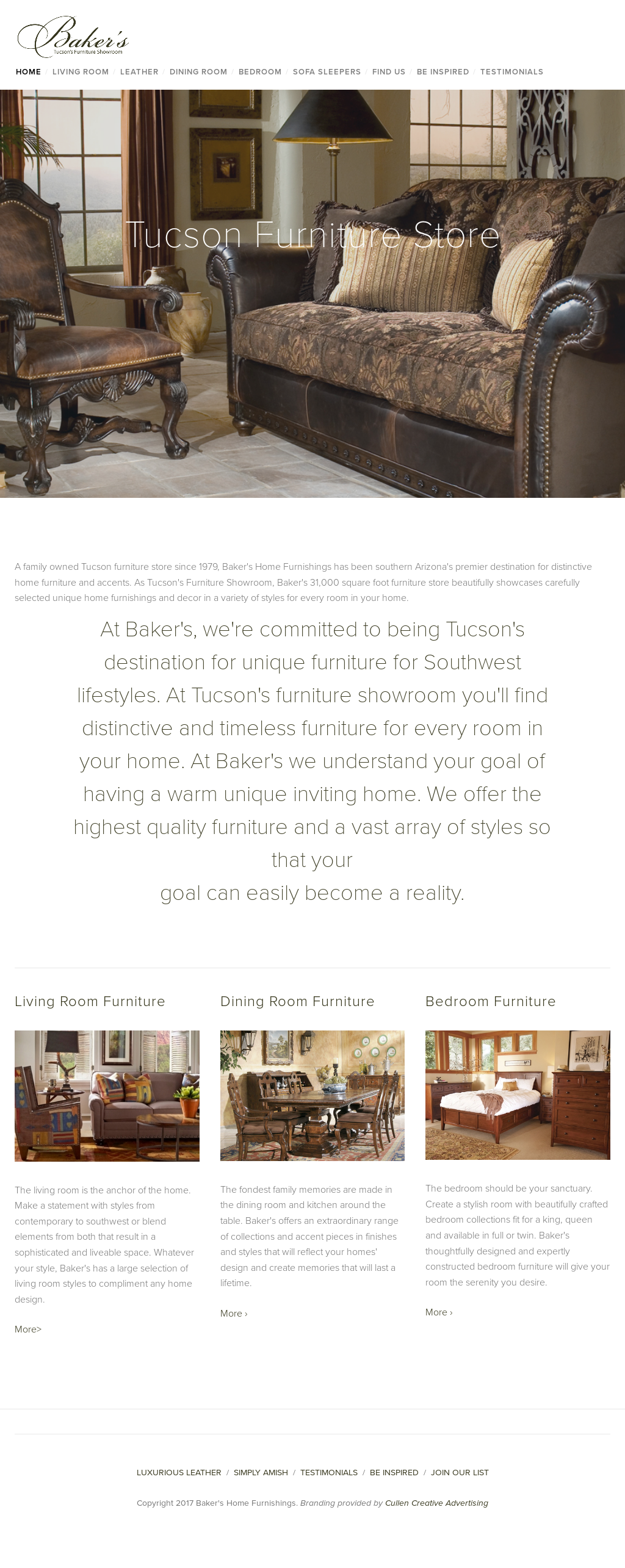 Baker S Home Furnishings Website History