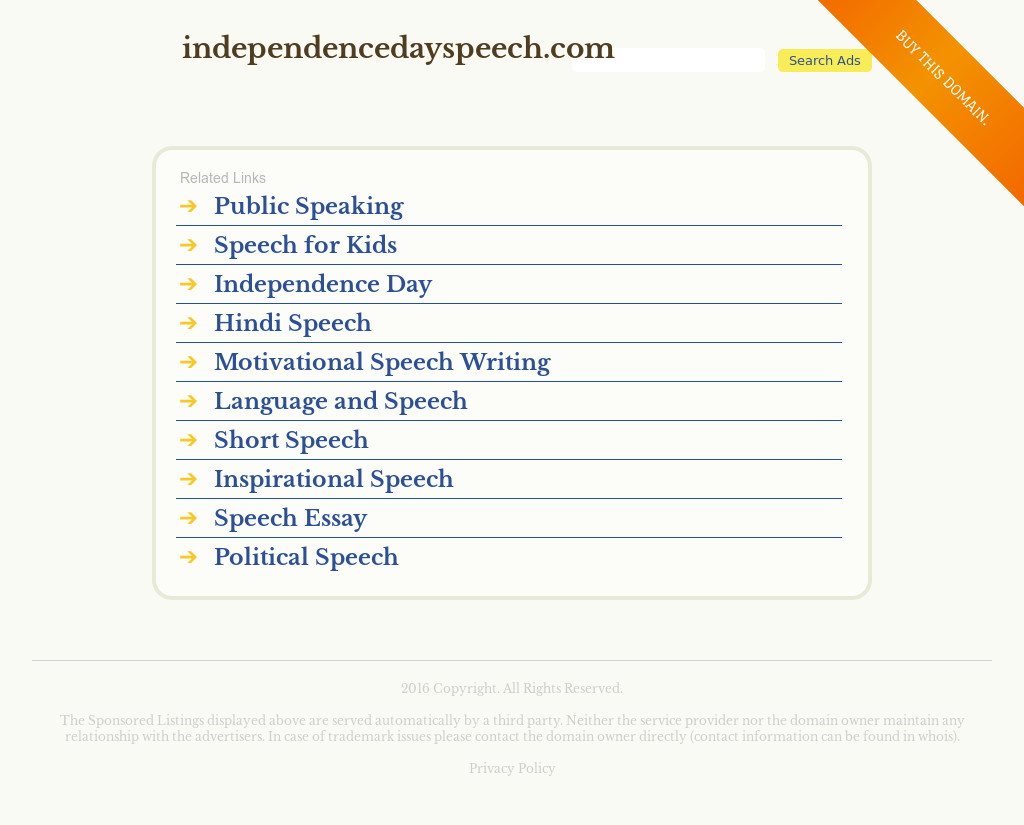 Independence Day Speech Competitors, Revenue and Employees
