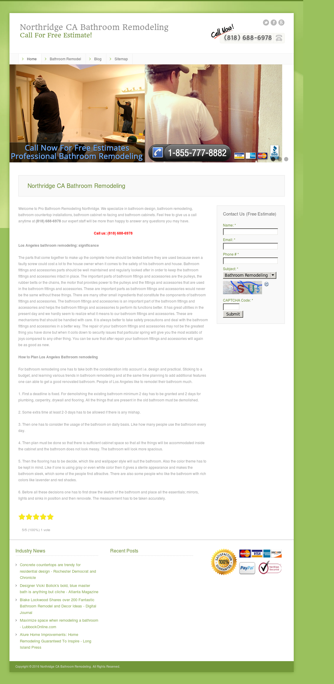 Northridge Ca Bathroom Remodeling Competitors Revenue And Employees - Alure bathroom remodeling