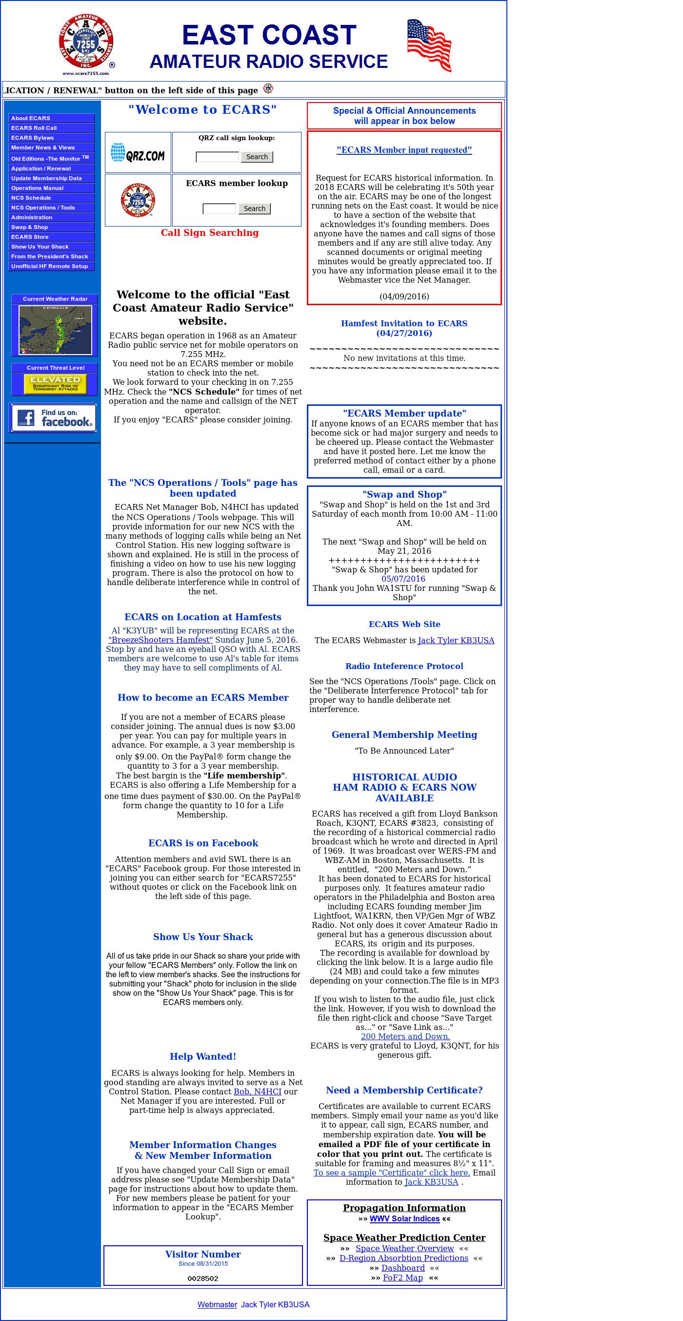 East Coast Amateur Radio Service Competitors, Revenue and
