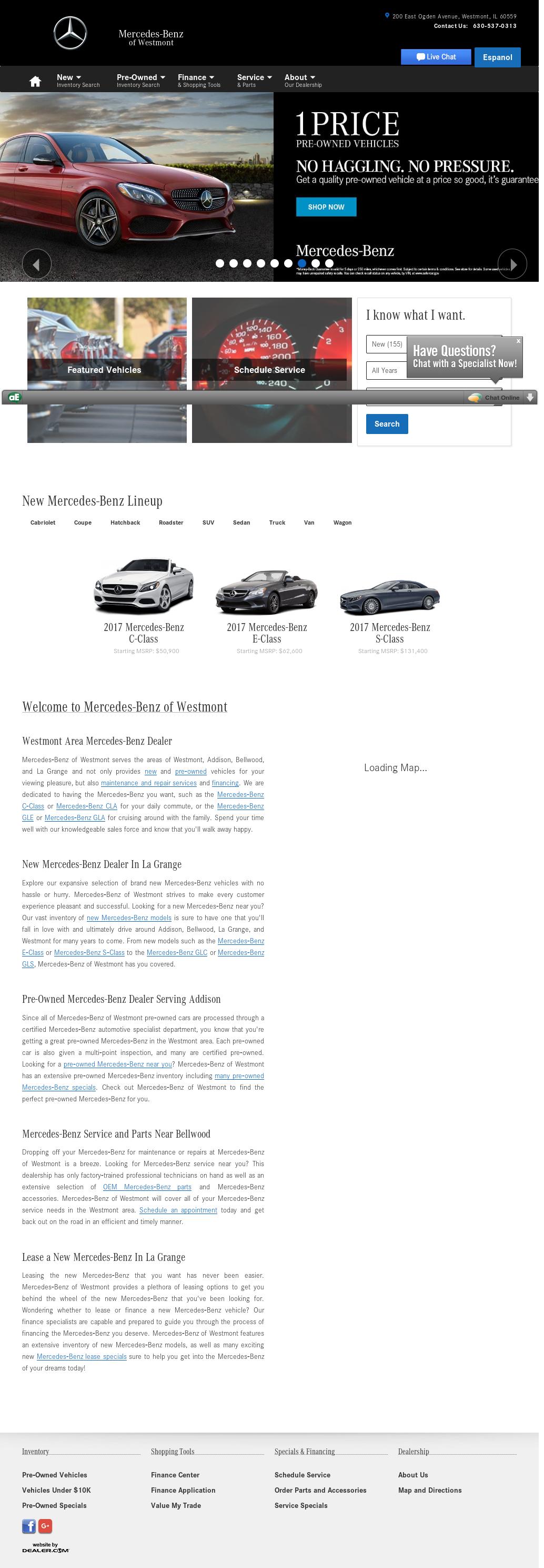 Mercedes Benz Of Westmont Website History
