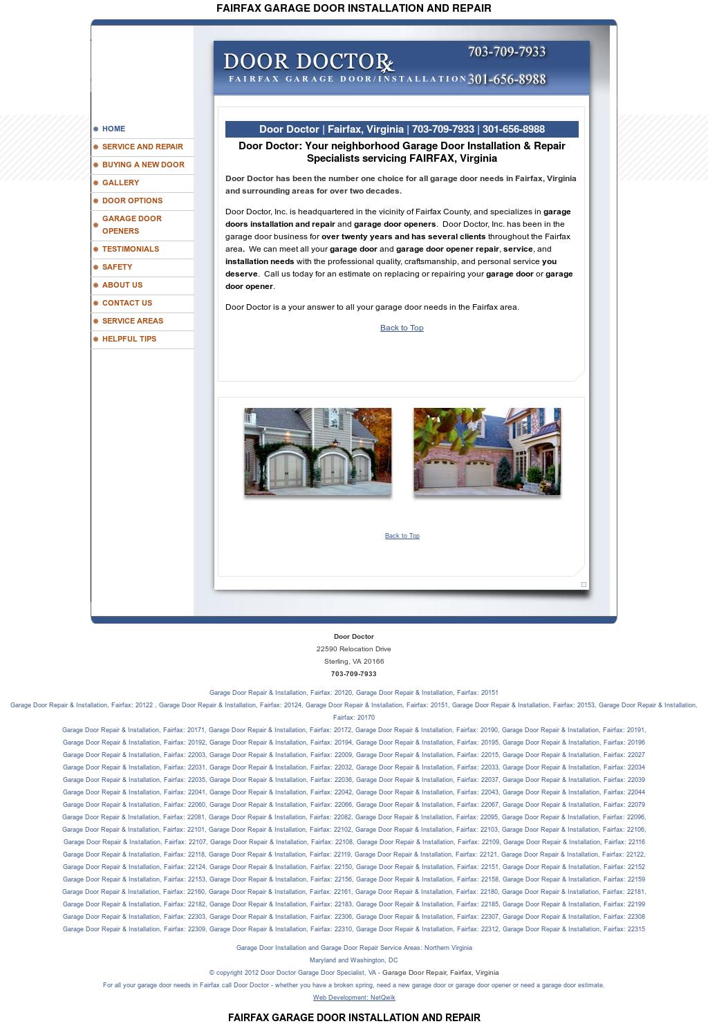 Garagedoorfairfax Competitors, Revenue And Employees   Owler Company Profile