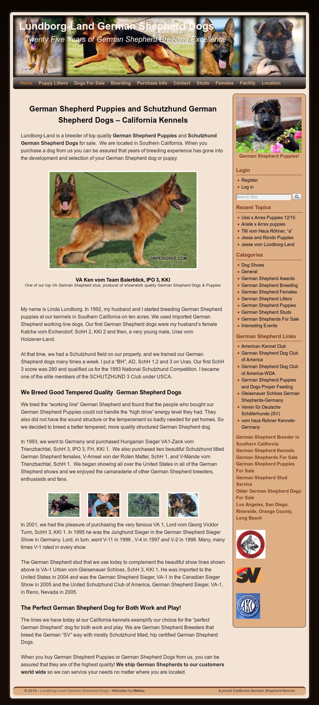 Lundborg-land German Shepherd Dogs Competitors, Revenue and