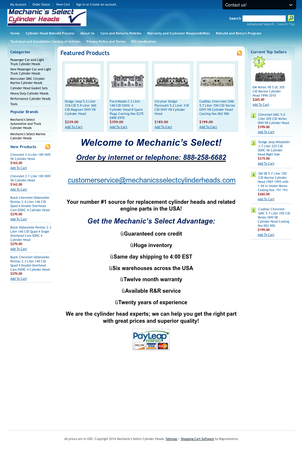 Mechanic's Select Cylinder Heads Competitors, Revenue and Employees