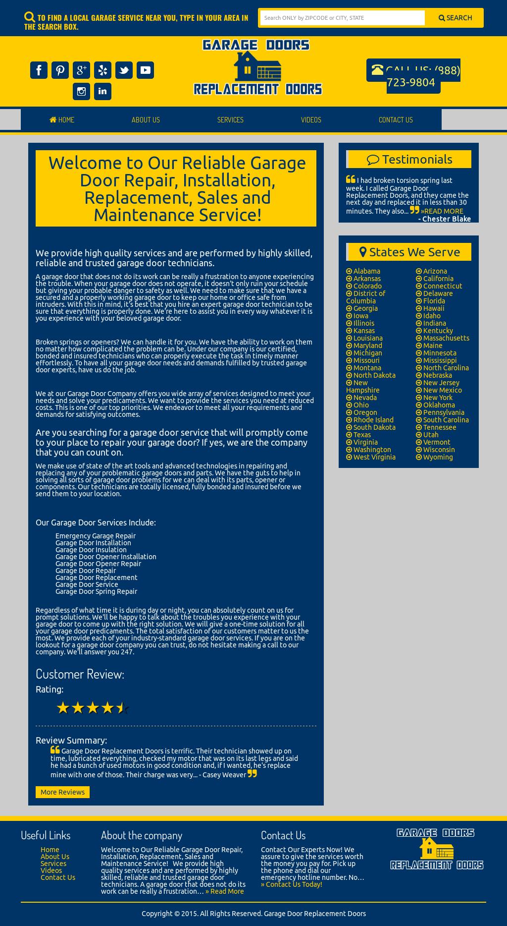 Garage Door Replacement Doors Competitors, Revenue and