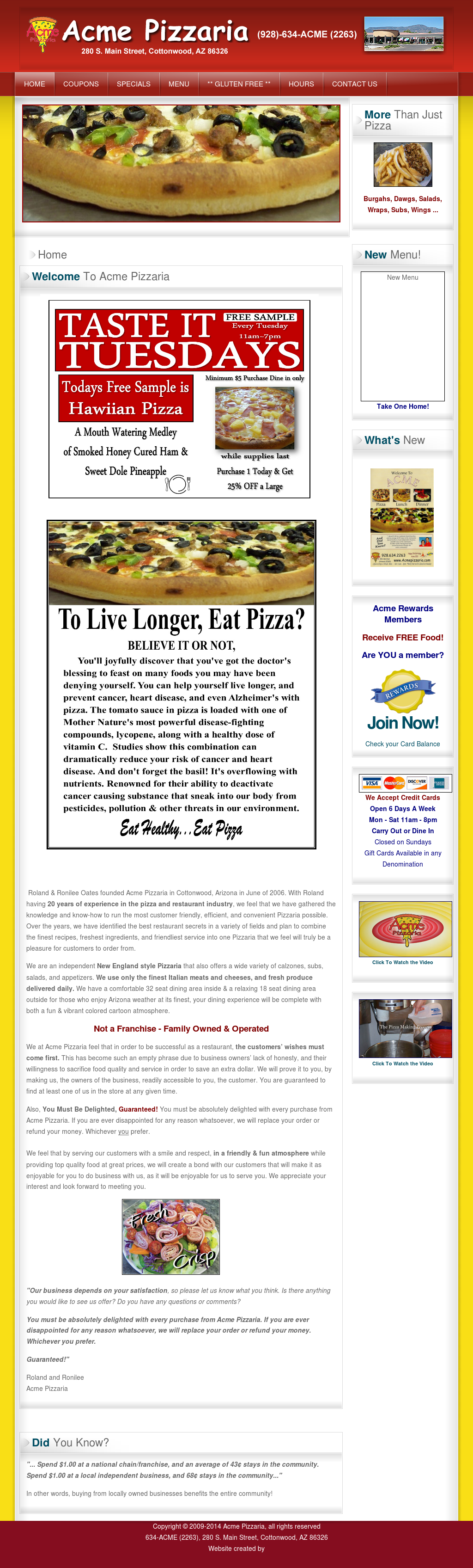 Acme Pizzaria Competitors, Revenue and Employees - Owler Company Profile