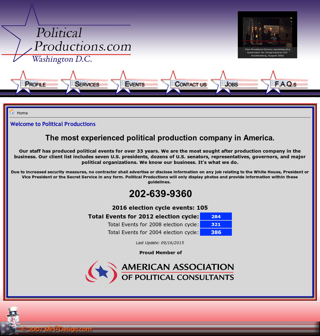 Political Productions Competitors, Revenue and Employees