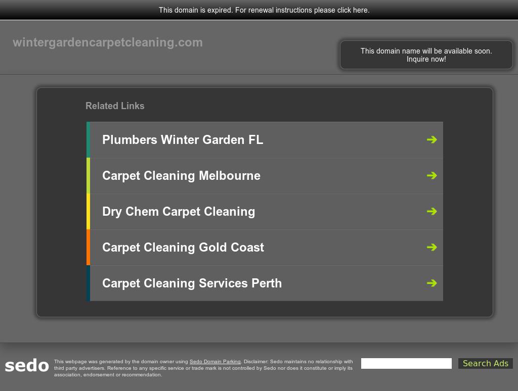 Winter Garden Carpet Cleaning Website History