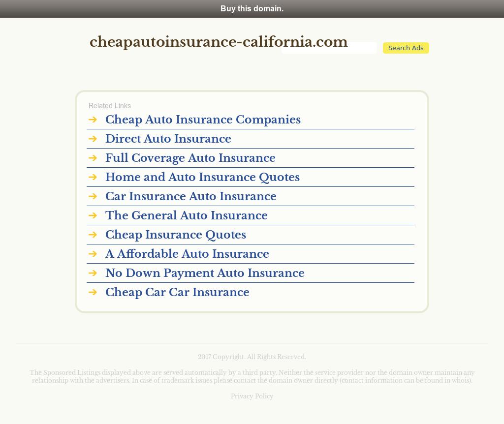 Cheap Auto Insurance In California Competitors, Revenue and