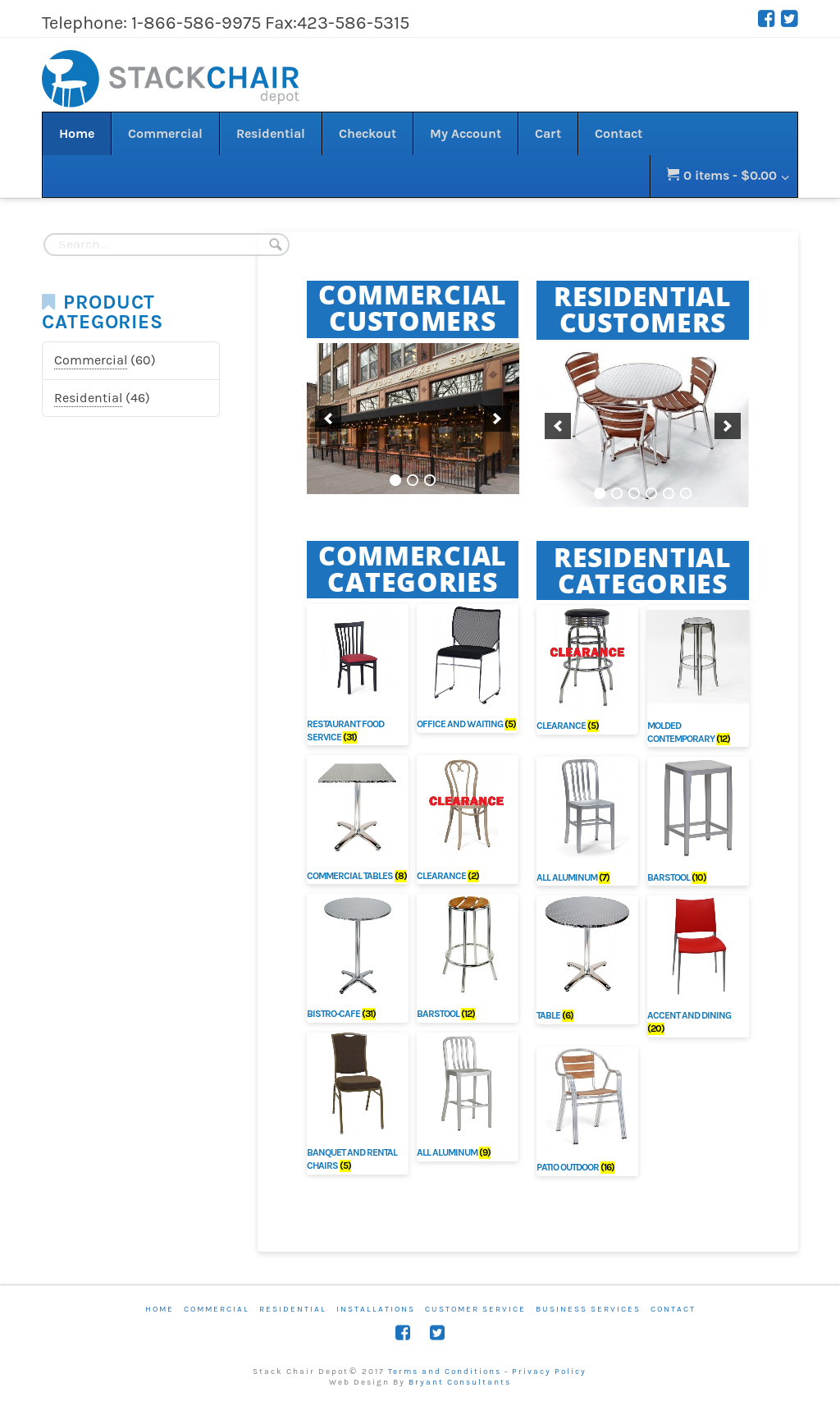 Stack Chair Depot Website History