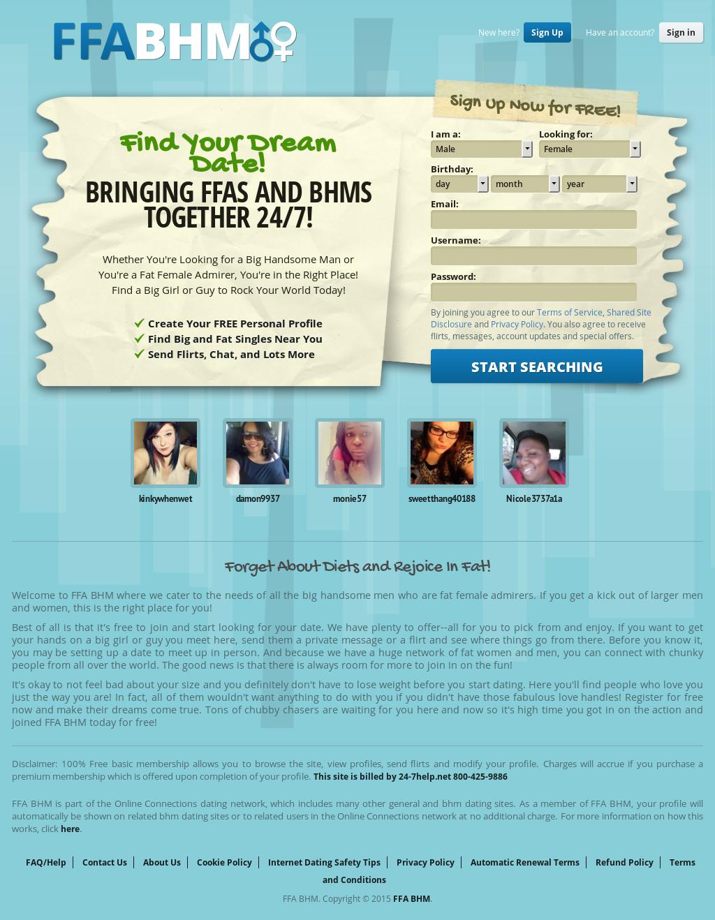 Bhm ffa dating services