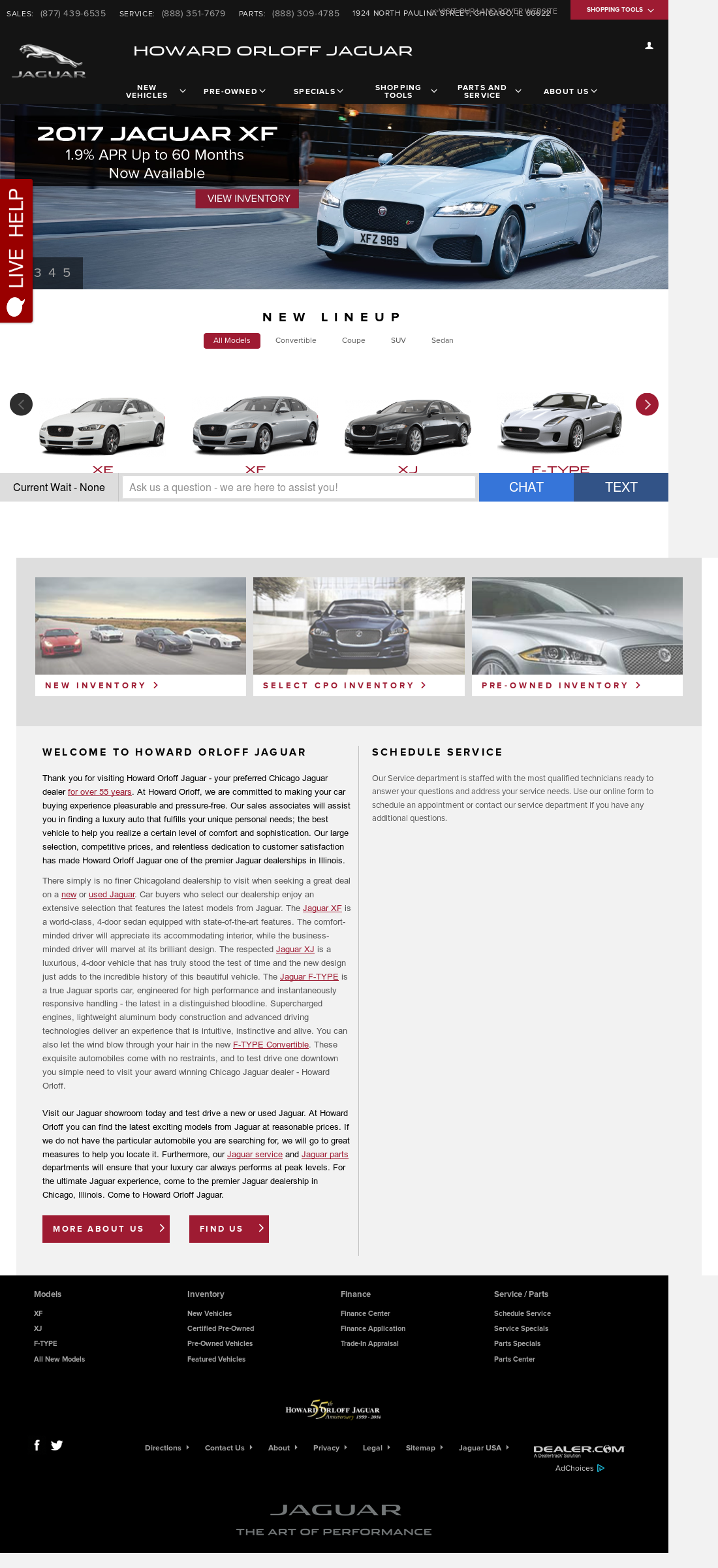 Howard Orloff Jaguar Volvo Website History