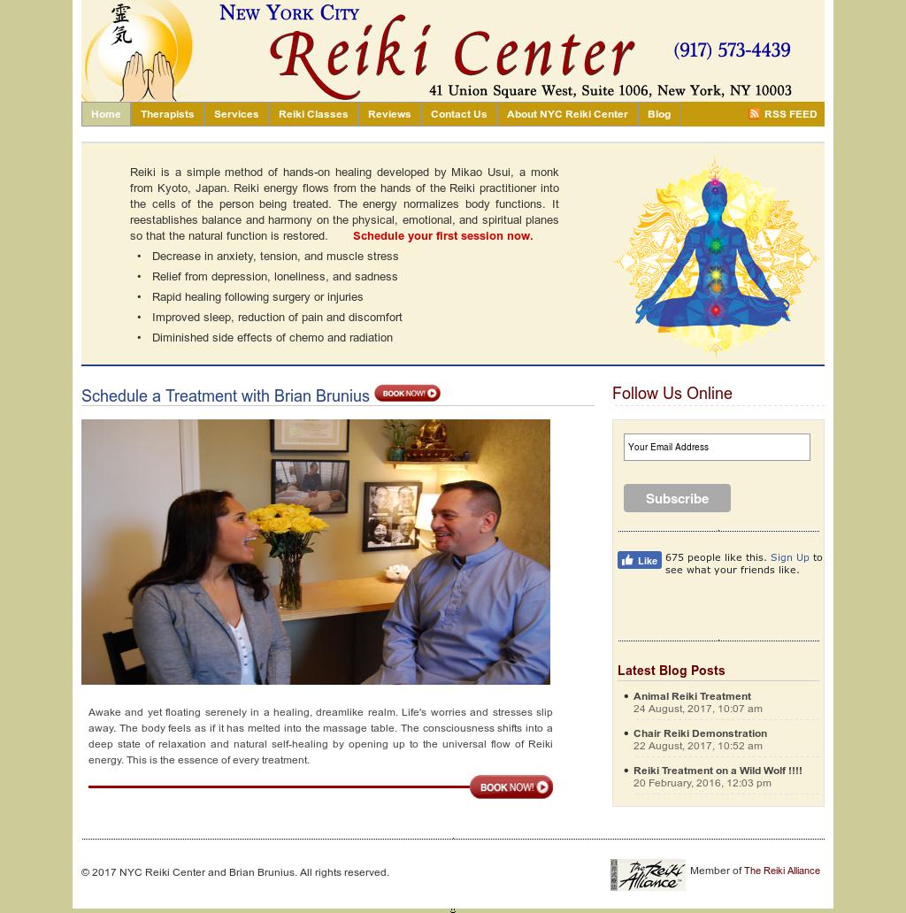 Nyc Reiki Center And Brian Brunius Competitors, Revenue and