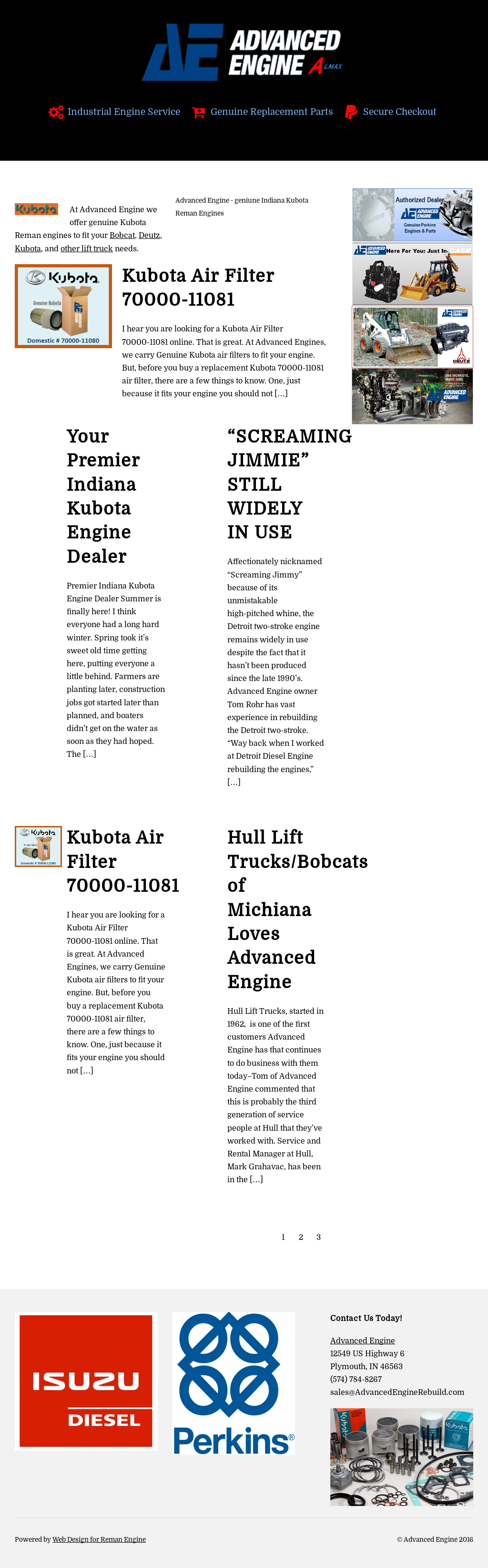 Advanced Engine Rebuilders Of Bobcat And Kubota Competitors