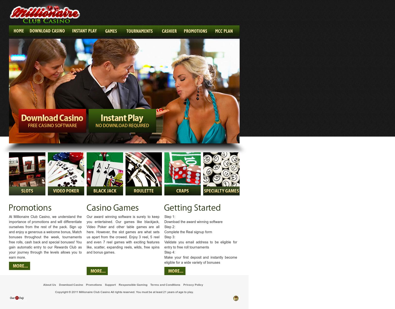 Millionaire club website