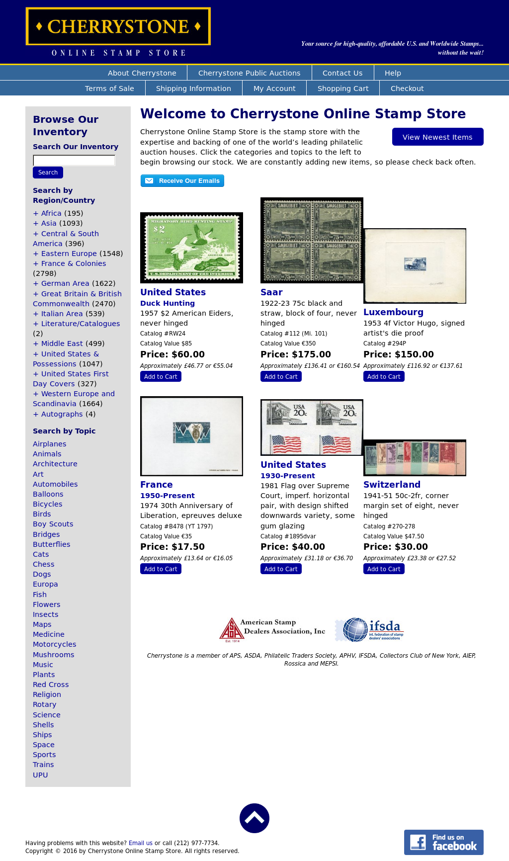 Cherrystone Online Stamp Store Competitors, Revenue and Employees