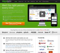 PagerDuty website history