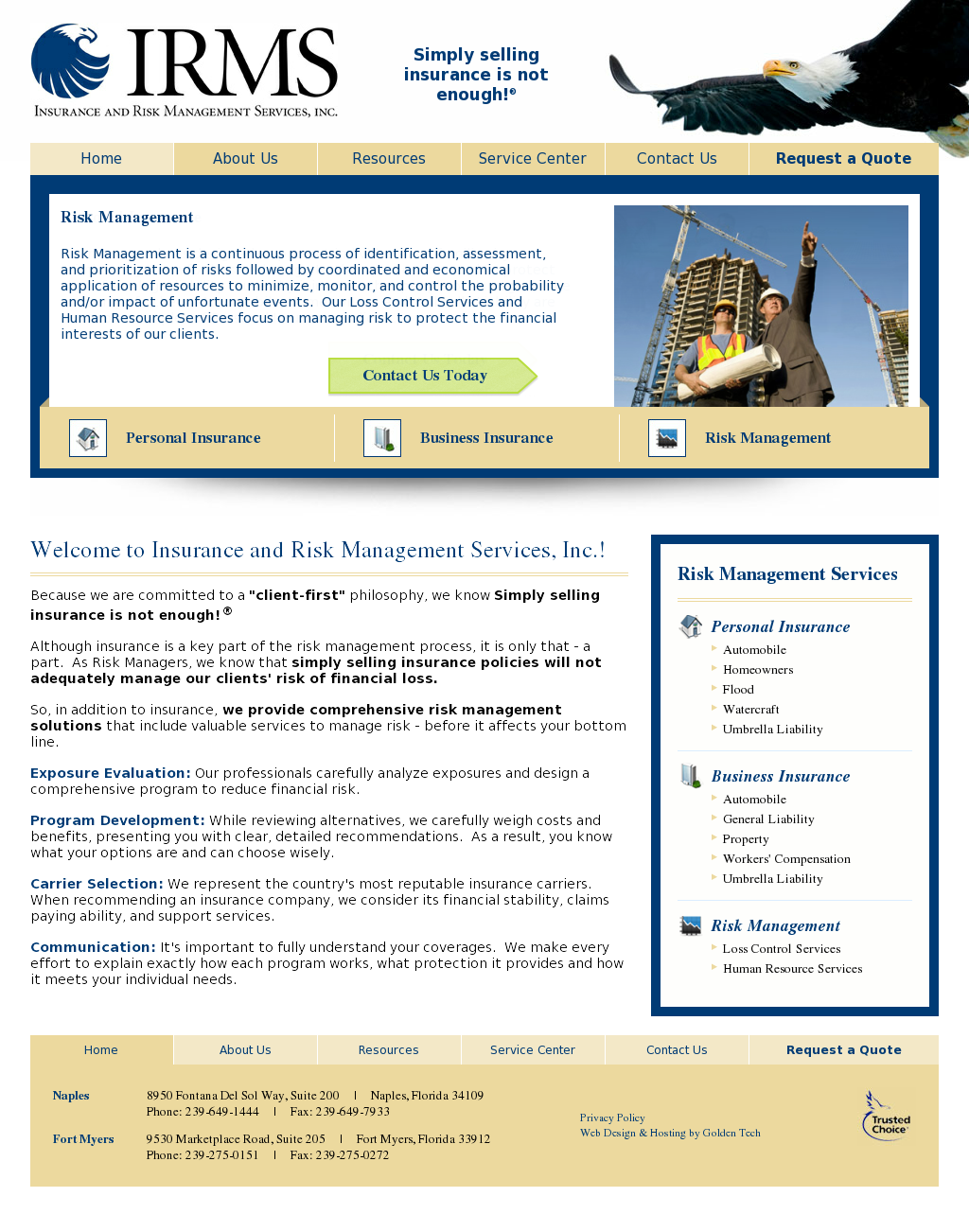 Insurance and Risk Management Services Competitors, Revenue