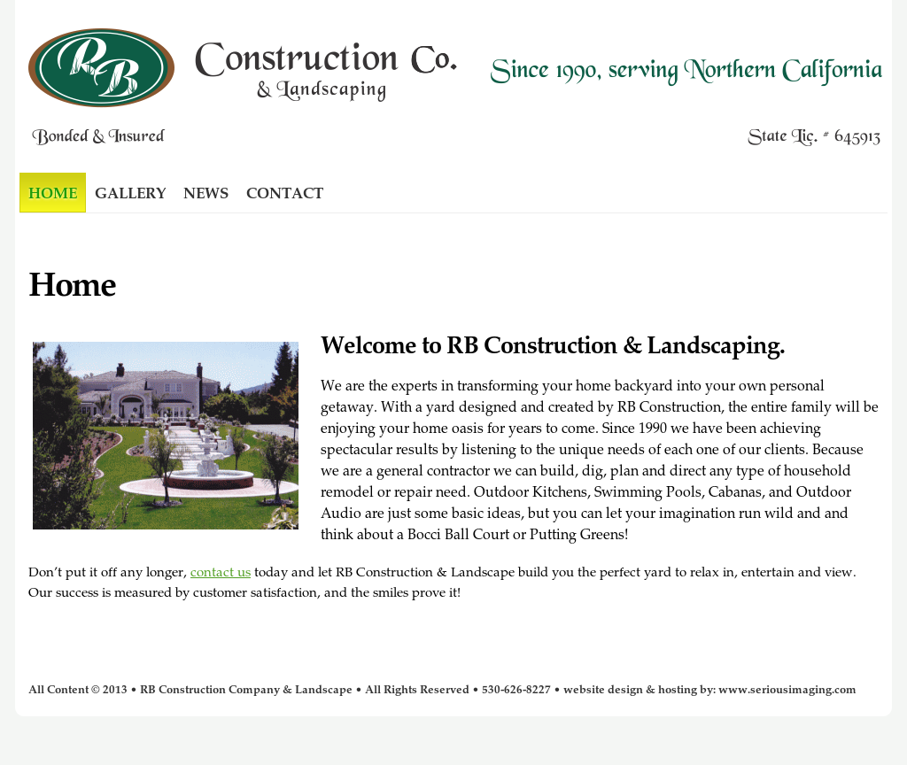 Rb Construction Company & Landscape Competitors, Revenue and