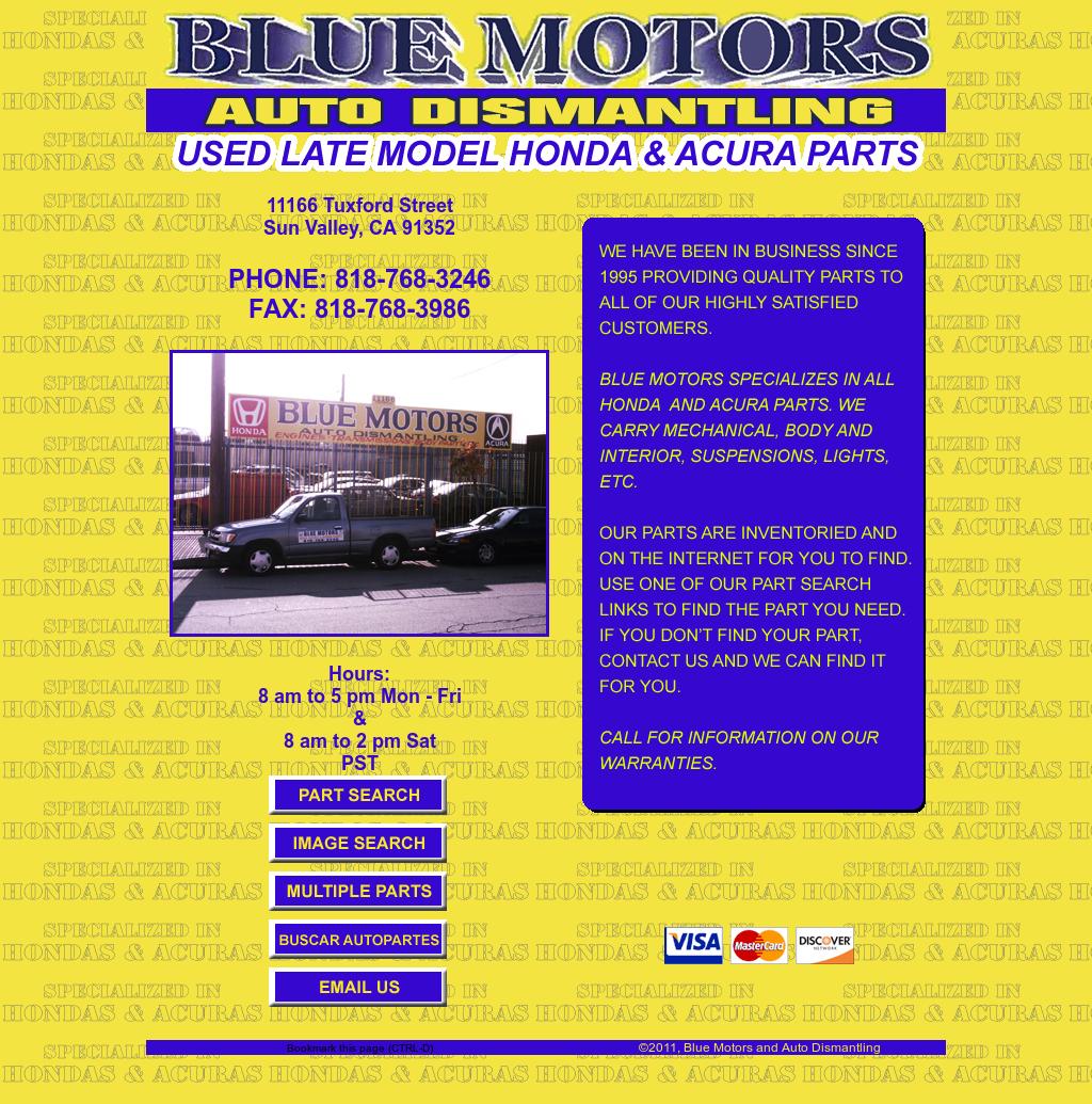 Acura Dealership Los Angeles: Blue Motors Auto Dismantling Honda Acura