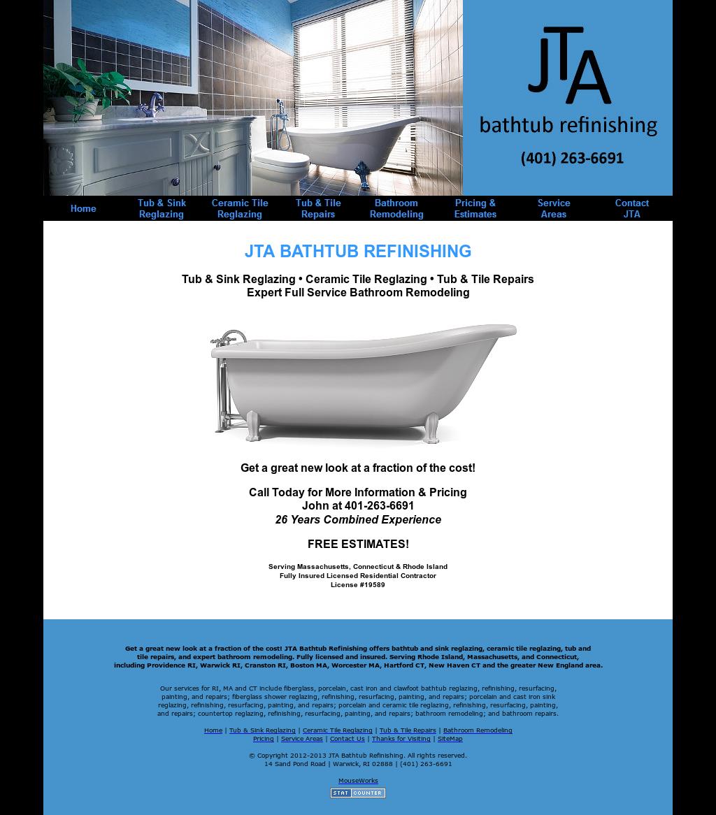 Jta Bathtub Refinishingu0027s Website Screenshot On Sep 2017