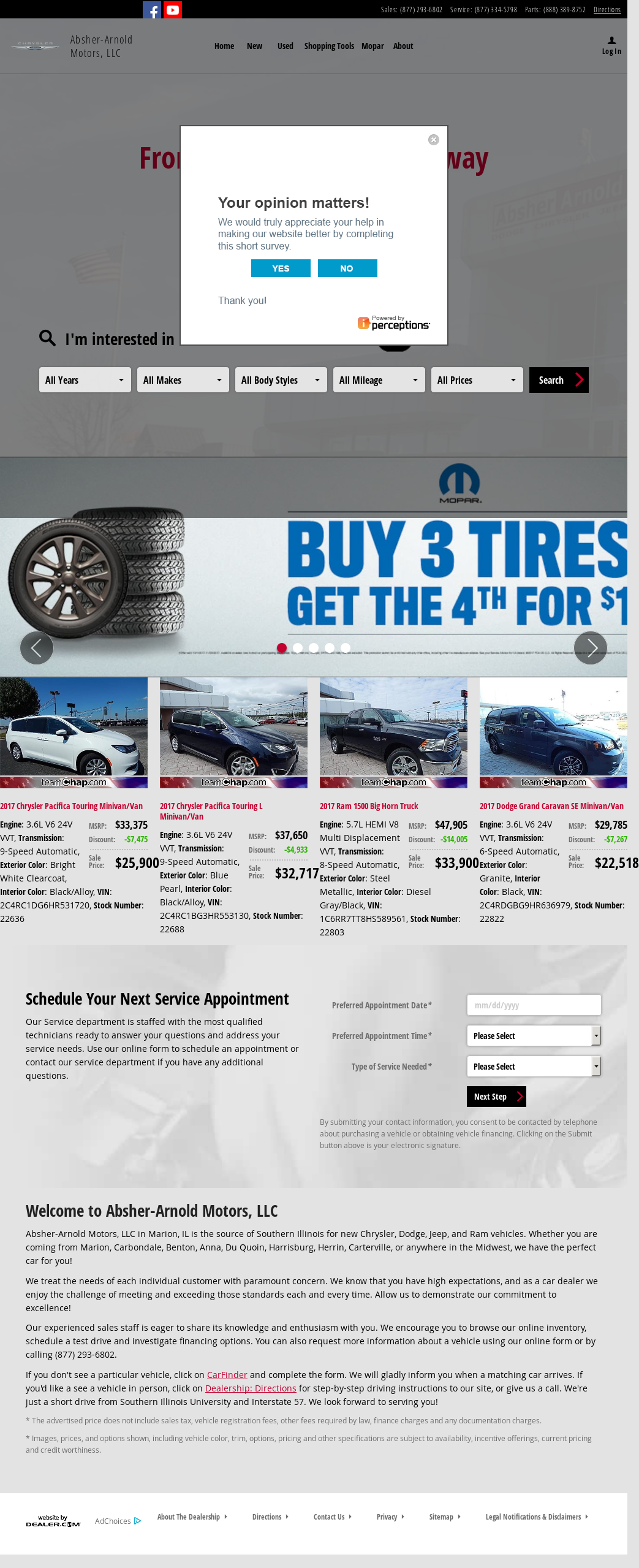 Absher-Arnold Motors website history
