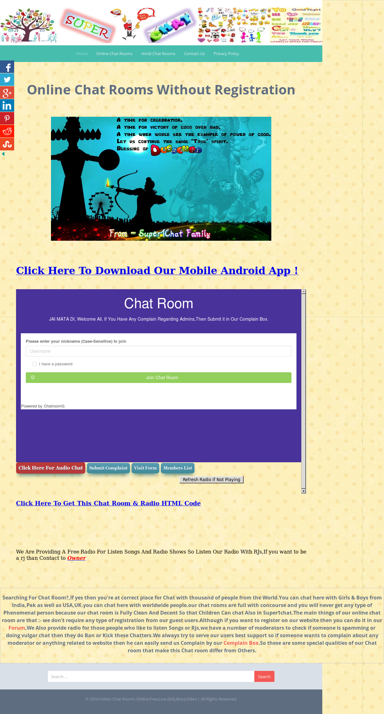 Super1chat Online Chat Rooms India Competitors, Revenue and