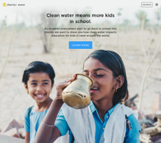 Charity: Water website history