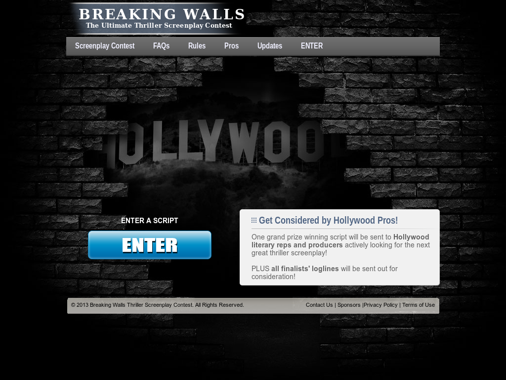 Breaking Walls Thriller Screenplay Contest Competitors