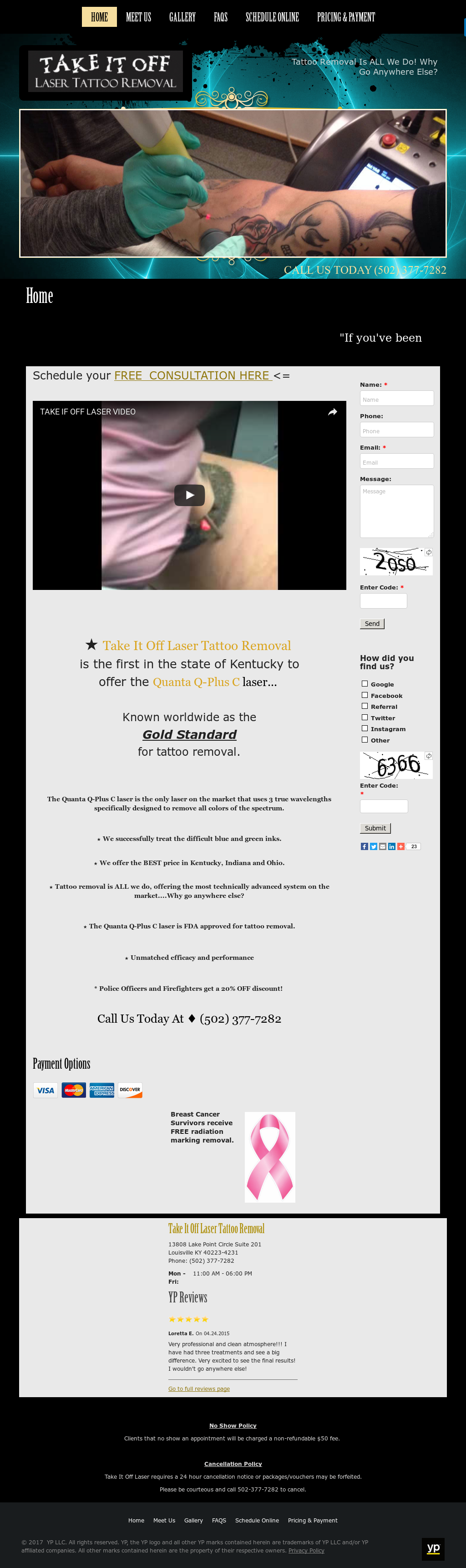 Take It Off Laser Tattoo Removal Competitors, Revenue and Employees ...