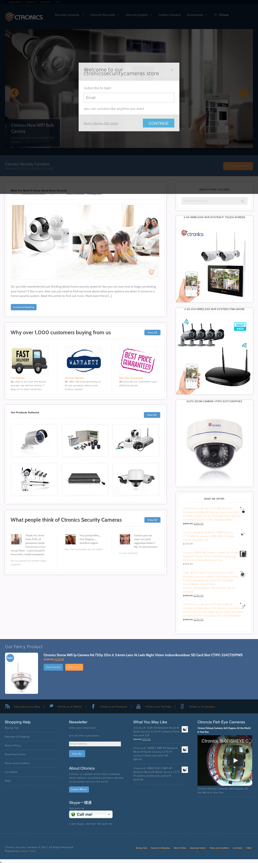 Ctronics Security Cameras Competitors, Revenue and Employees