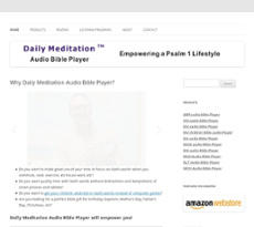 Daily Meditation Audio Bible Player Competitors, Revenue and