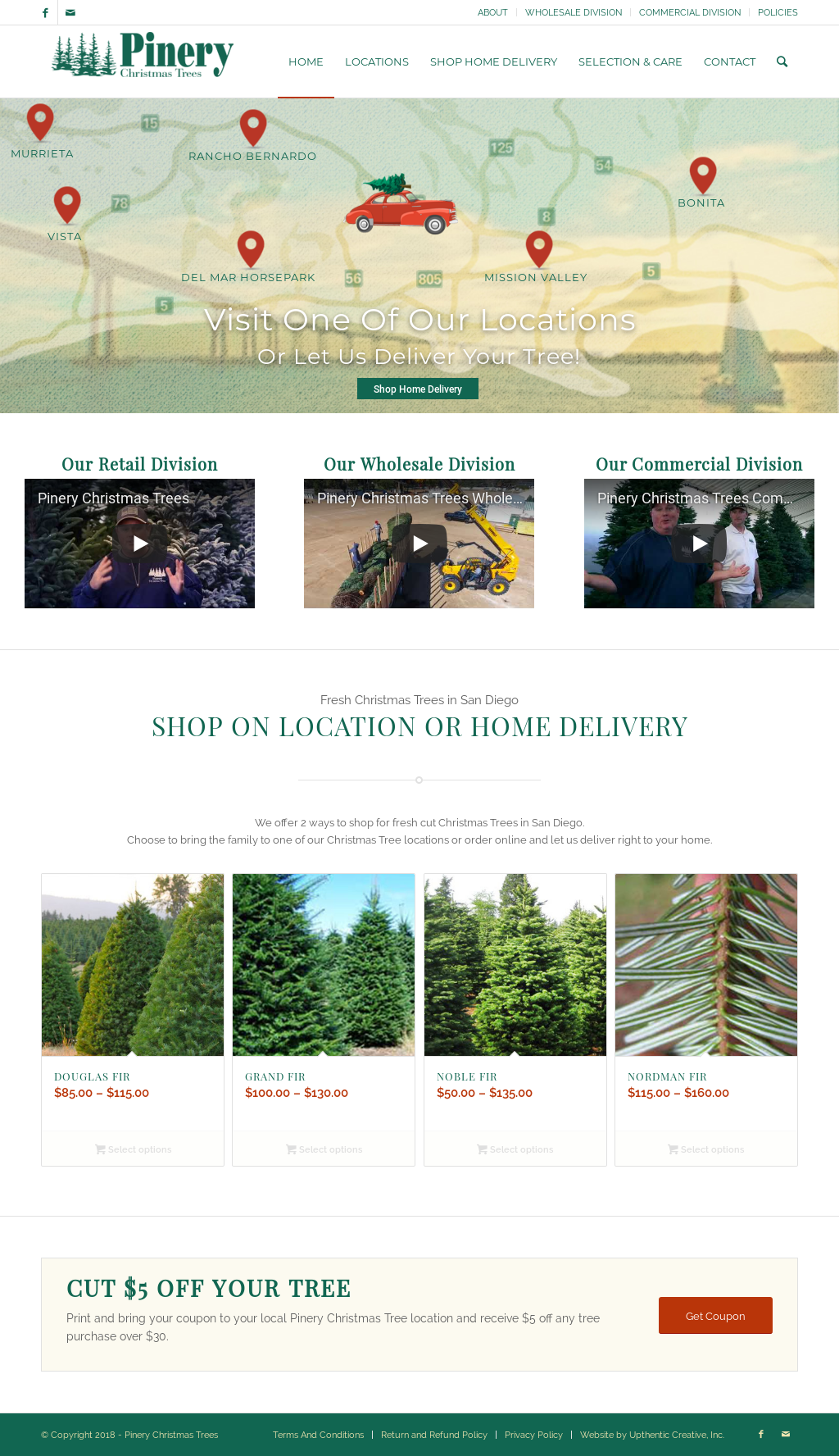 pinery christmas trees website history - Pinery Christmas Trees