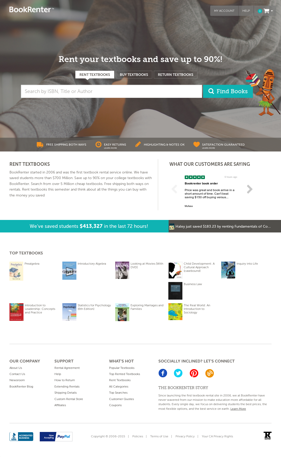 Using Direct textbook to hunt for a new or used textbook is a three step process. Simply search for a book, browse through the search results, and then visit any of the stores that the site taps to buy or rent your textbook.