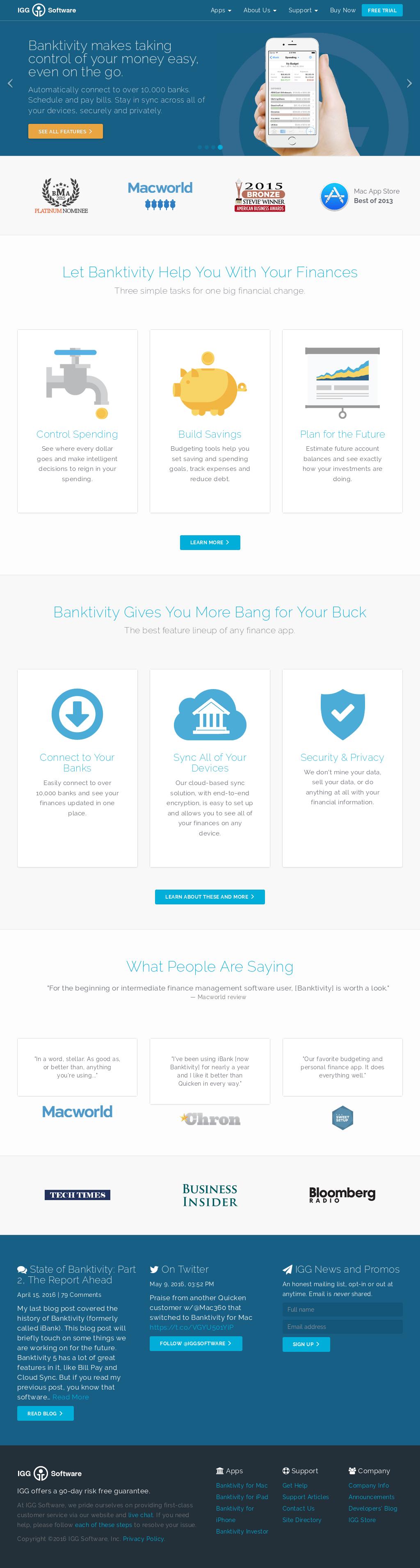 Owler Reports - IGG Software Blog Introducing Banktivity 7