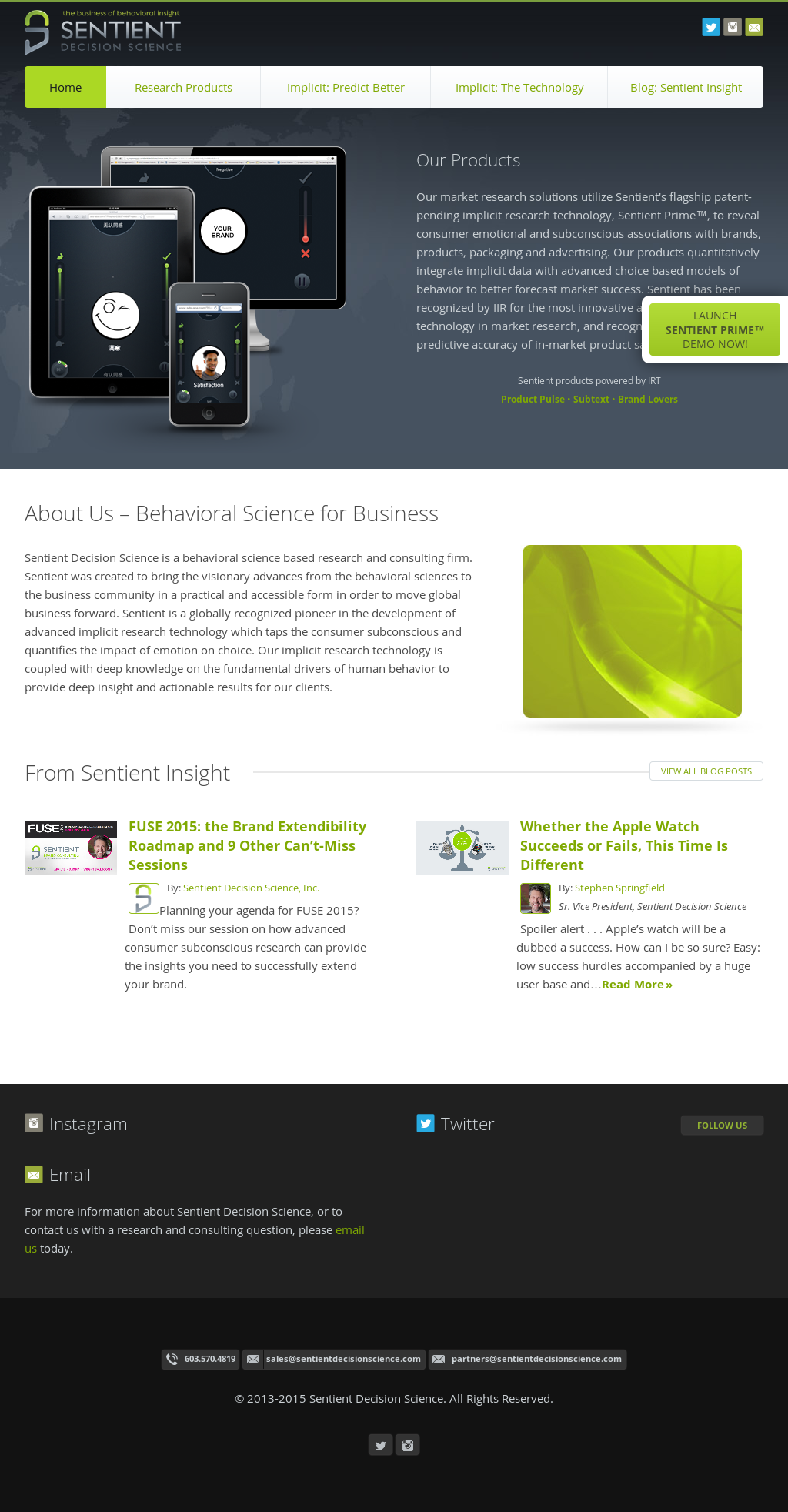 Sentient Decision Science Competitors, Revenue and Employees