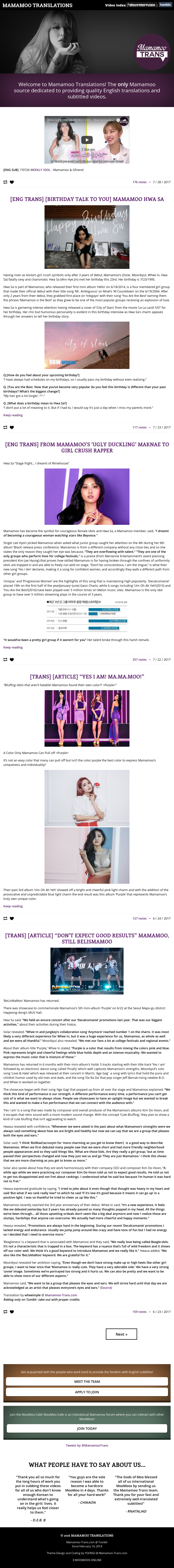 Mamamoo Translations Competitors, Revenue and Employees - Owler