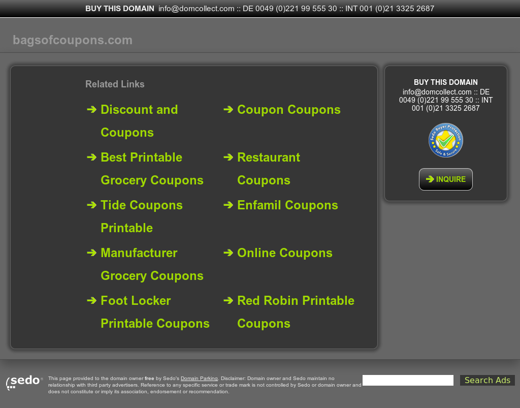 bags of coupons competitors revenue and employees owler company