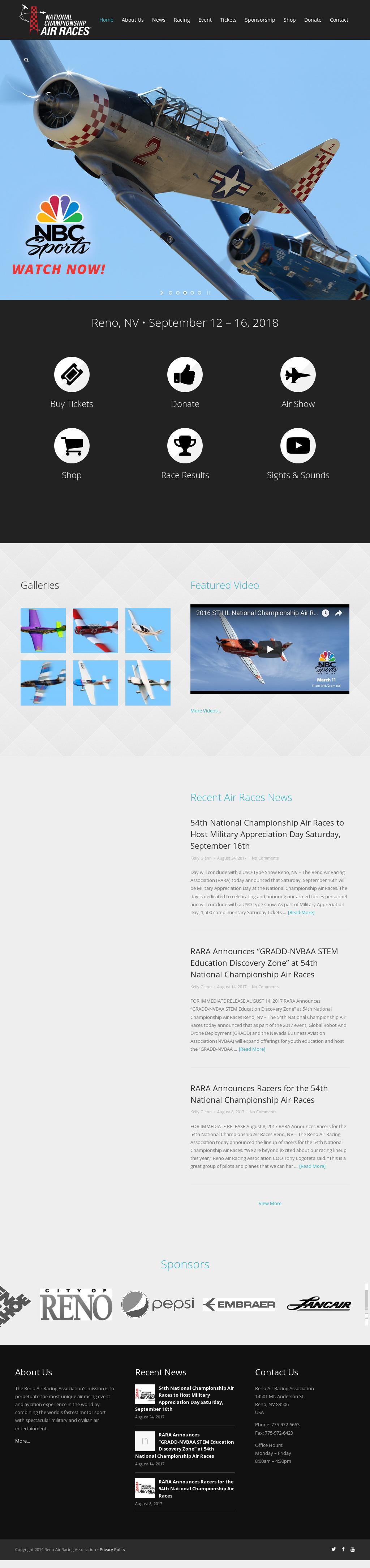 Reno Air Racing Association Competitors, Revenue and