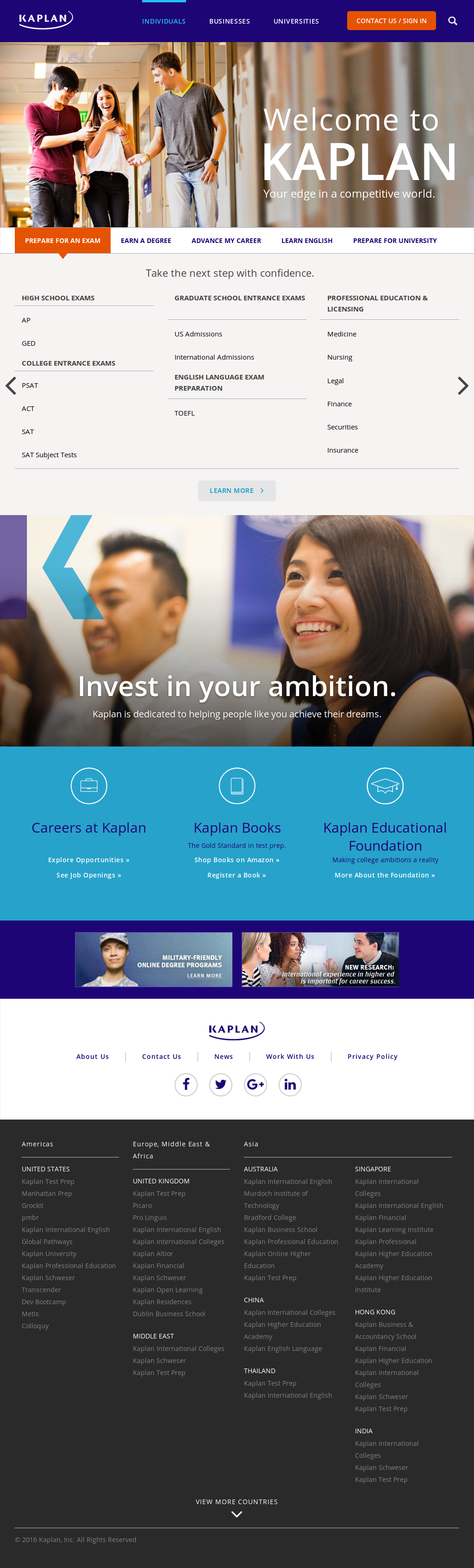 Kaplan Competitors, Revenue and Employees - Owler Company Profile