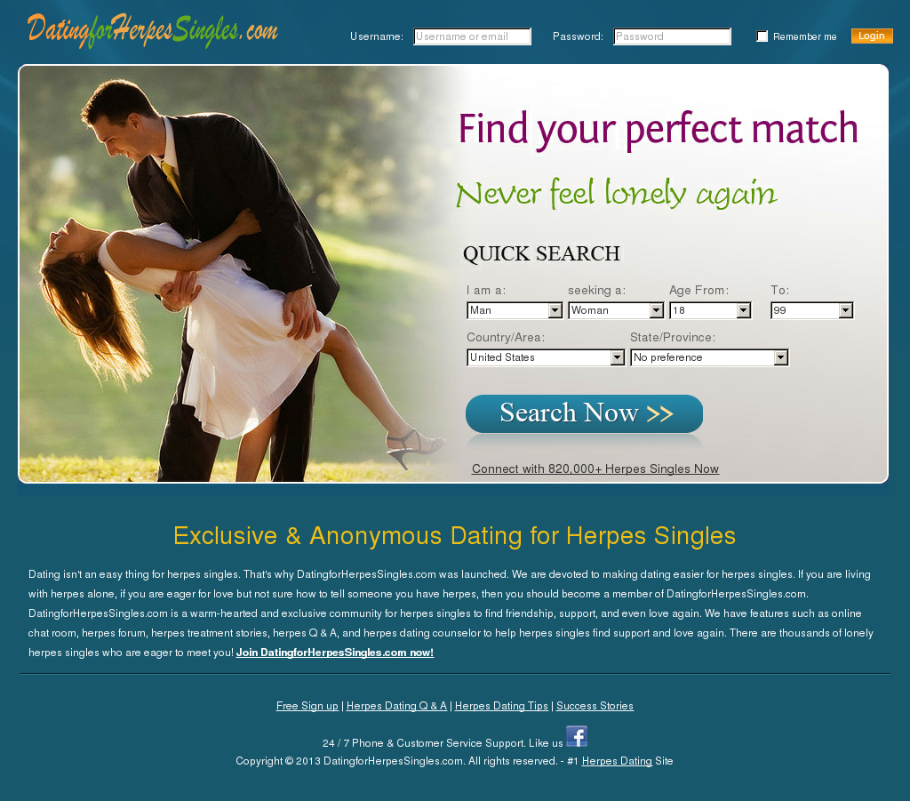 Dating for herpes